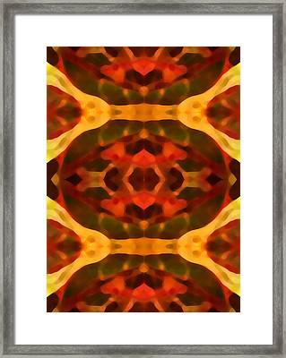 Ruby Crystal Pattern Framed Print by Amy Vangsgard