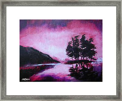Framed Print featuring the painting Ruby Dawn by Seth Weaver
