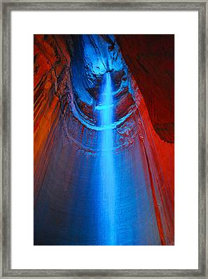 Ruby Falls Waterfall 3 Framed Print