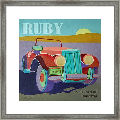 Ruby Ford Roadster Framed Print by Evie Cook