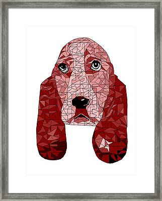 Ruby In Red Framed Print