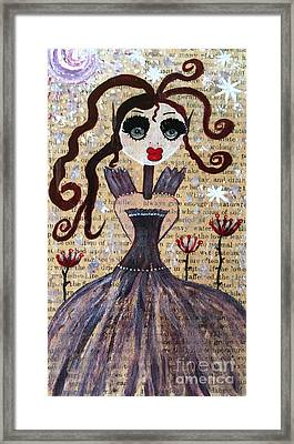 Framed Print featuring the painting Ruby by Julie Engelhardt