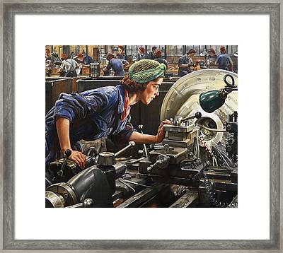 Ruby Loftus Screwing A Breech Ring Framed Print by Mountain Dreams