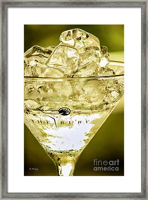 Ruby Martini Framed Print by Rene Triay Photography