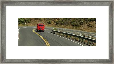 Ruby On The Road Framed Print by Richard Kimbrough