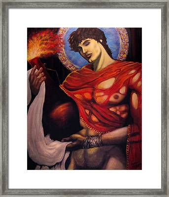 Ruby Prometheus Framed Print by Aleksei Gorbenko