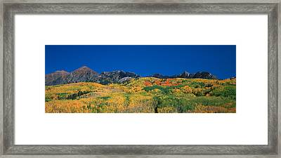 Ruby Range Color Of Fall Framed Print by Dusty Demerson