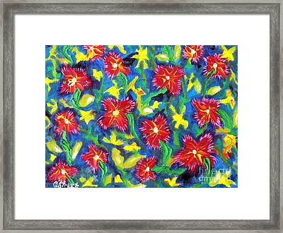 A Bed Of Ruby Reds.  Framed Print