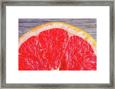 Ruby Red Grapefruit Framed Print by Teri Virbickis