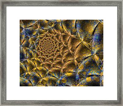 Ruched Satin Design Framed Print by Keith Bowden
