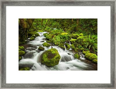 Ruckel Creek Framed Print by Thorsten Scheuermann