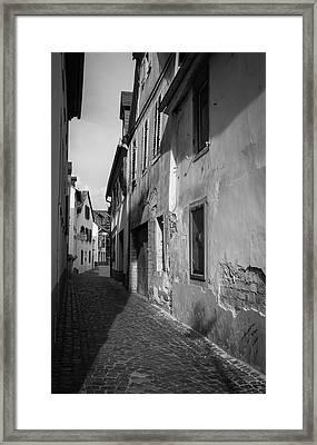 Rudesheim Alley B W Framed Print