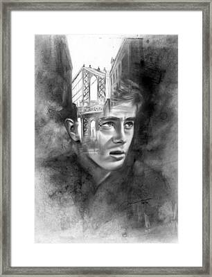 Rudimentary - James Dean Framed Print by Michael George Escolano