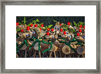 Rudolph Framed Print by Angela Aird