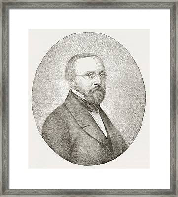 Rudolph Carl Virchow, 1821 Framed Print by Vintage Design Pics