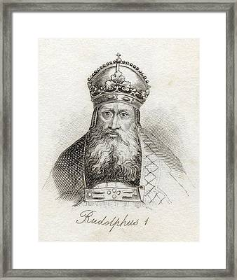 Rudolph I Of Germany Rudolph Of Framed Print by Vintage Design Pics