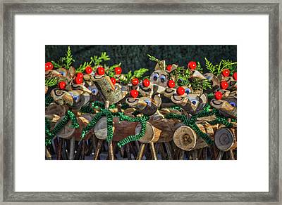 Rudolph Knows. Framed Print by Angela Aird