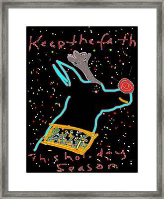 Rudolph Sketch Framed Print