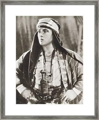 Rudolph Valentino, 1895 Framed Print