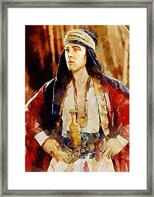 Rudolph Valentino As The Sheikh Framed Print