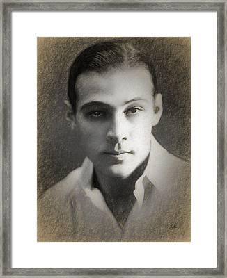 Rudolph Valentino Framed Print by Joaquin Abella