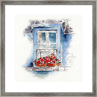 Rue Bernardine Window Framed Print