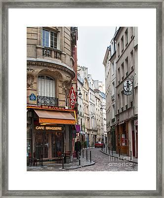 Rue Dante Paris Framed Print