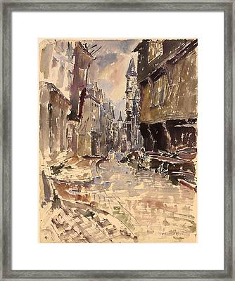 Rue De La Cathedrale  Framed Print
