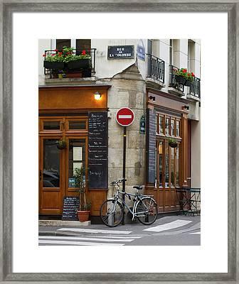 Rue De La Colombe - Paris Photograph Framed Print