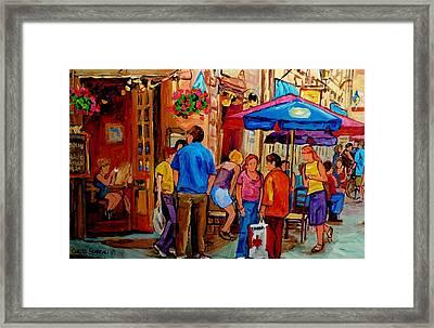 Rue De La Commune Montreal Framed Print by Carole Spandau