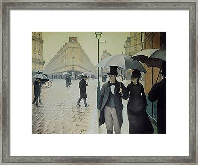 Rue De Paris Wet Weather Framed Print