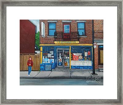Rue Du Centre Depanneur Framed Print