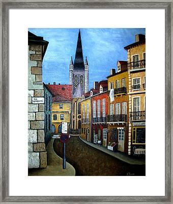 Rue Lamonnoye In Dijon France Framed Print