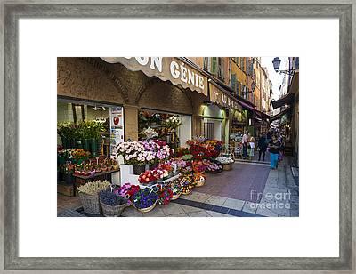 Rue Pairoliere In Nice Framed Print