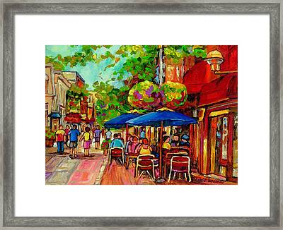 Rue Prince Arthur Montreal Framed Print
