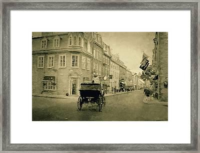 Rue Saint Louis - Quebec City  Framed Print by Maria Angelica Maira
