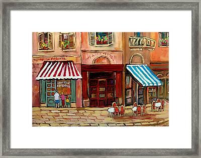 Rue St Paul Montreal Framed Print by Carole Spandau