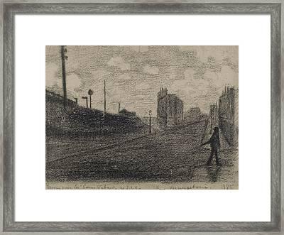 Rue Vercingetorix  Framed Print by Paul Signac