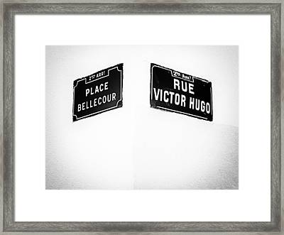 The Corner Of Place Bellecour And Rue Victor Hugo Framed Print