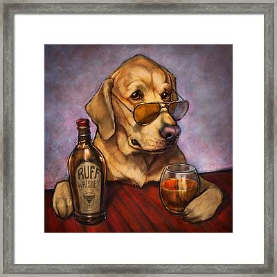 Ruff Whiskey Framed Print by Sean ODaniels
