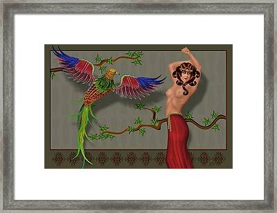 Ruffled Feathers Framed Print by Troy Brown