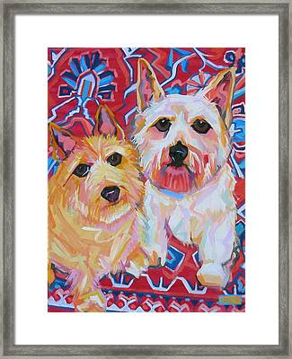 Rufus And Peaches Framed Print