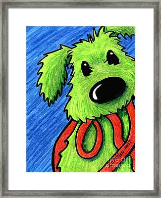 Rufus At The Ready Framed Print by Kim Niles