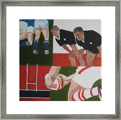 Rugby 2 Framed Print by Pat Barker