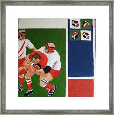 Rugby 3 Framed Print by Pat Barker