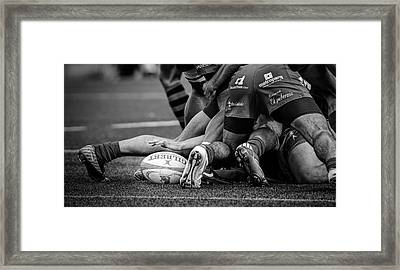 Rugby Framed Print by Cesar March
