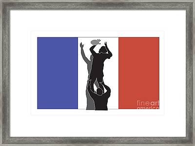 Rugby France Framed Print by Aloysius Patrimonio