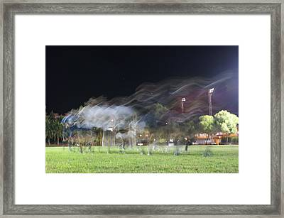 Rugby Training Framed Print by Stacy Spencer-Barclay