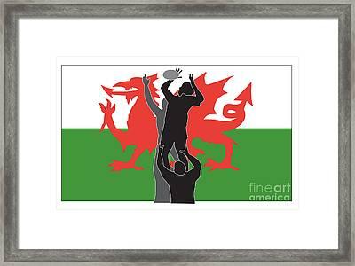 Rugby Wales Framed Print by Aloysius Patrimonio