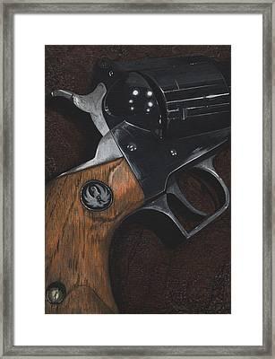Ruger 44 Magnum Super Blackhawk Revolver Framed Print by Jason Girard